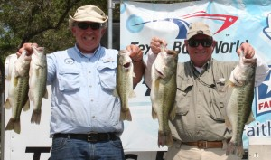 The Retired Colonels Team of Bill Shelnutt IX and David Titus make a statement on Lake Travis and win with 19.12 pounds.
