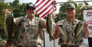 Baylor Hall and Wyatt Haschke with South Texas Bass Commanders take the win on Lake LBJ with 13.76 including a 6.00 kicker largemouth bass