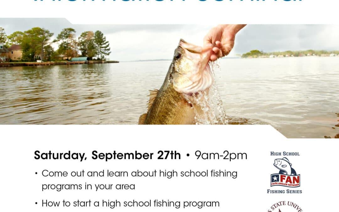 FAN High School Fishing Seminar at Academy San Marcos Sept. 27th. 9-2