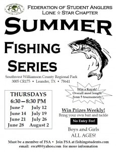 Fellowship of Student Anglers -Lone Star Chapter Summer Series