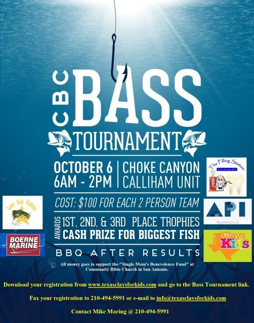 4th Annual Fall -CBC Benefit Tournament Choke Canyon-$500 1st Place