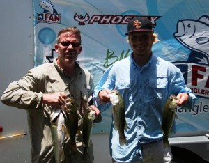 Father and Son team of Kyle and Konner Welch beat the heat  and win at  Stillhouse Hollow Reservoir