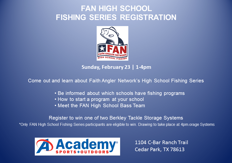 FAN High School Registration Day at Academy February 23rd 1-4PM