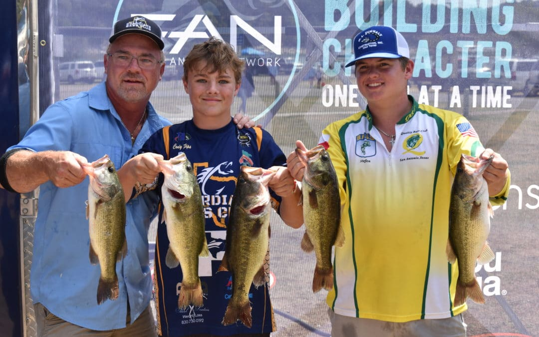 Rowdy Vick and Jacob Brown with Fredericksburg Battlin' Bass Take the Win at the FAN Central Qualifier on Lake Travis Presented By Academy Sports + Outdoors