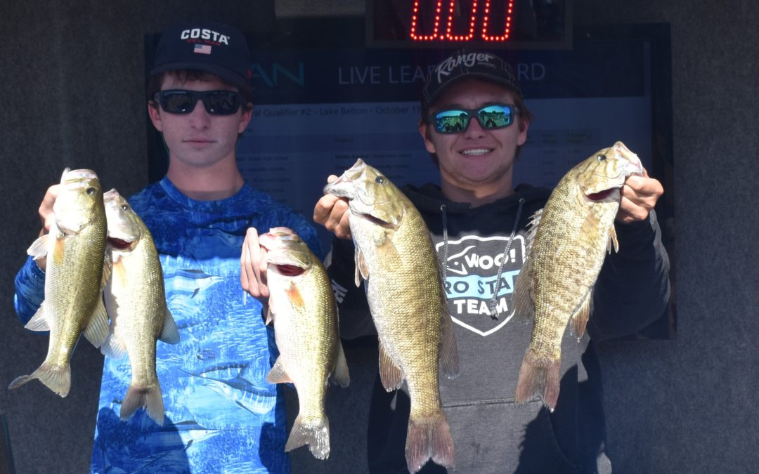 Hunter Amidon and Alex Cantrell Representing Bowie High School take the win at Central Qualifier #2 on Lake Belton Presented By Abu Garcia